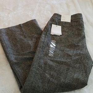 NWT! Calvin Klein sz 10 Classic Fit wool pant